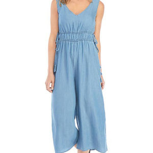 New Directions Chambray 100% Lyocell Jumpsuit